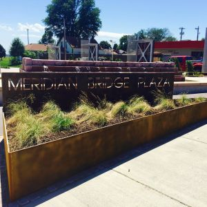 Photo of the Meridian Bridge Plaza courtesy of the City of Yankton Parks and Recreation Department.